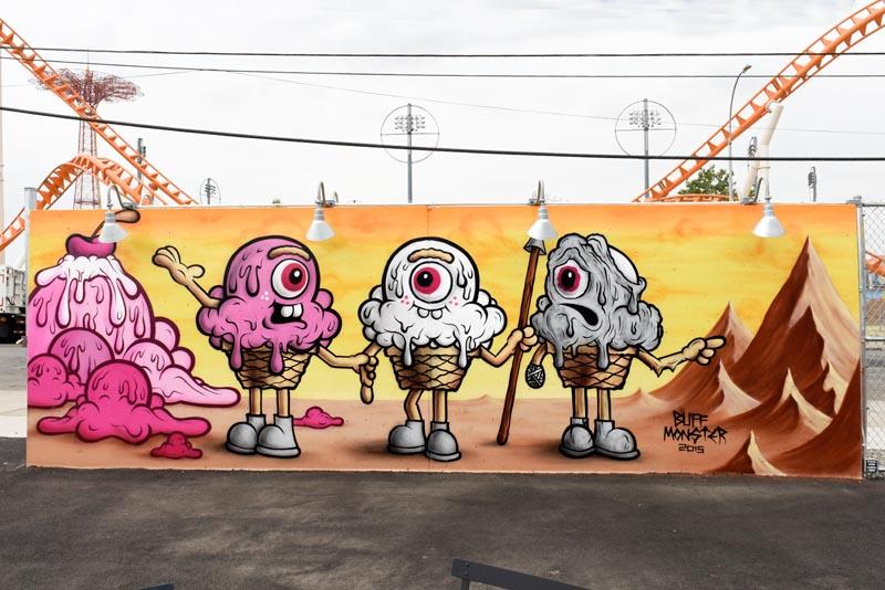 Coney Art Walls Buff Monster